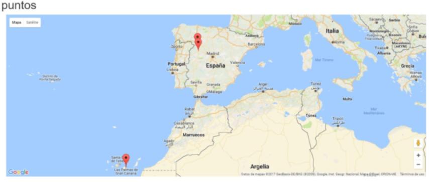 Representar puntos con Google Maps en tu web