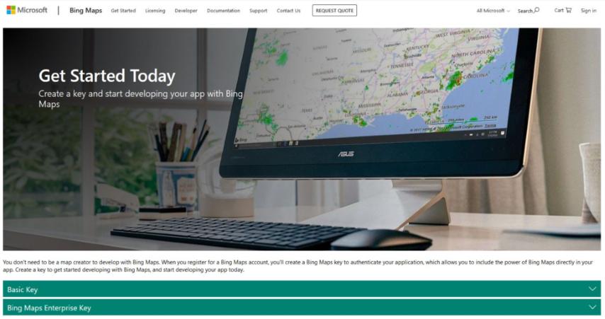 Mapas con Bing