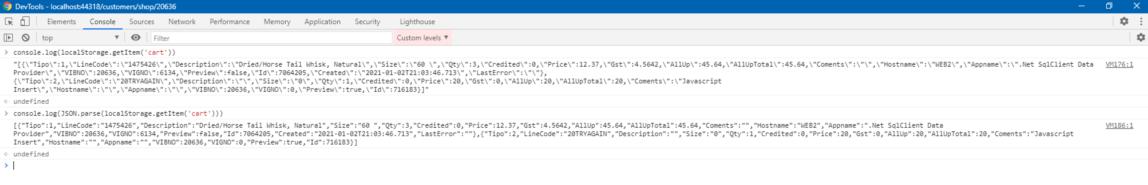 Primera serializacion desde Javascript